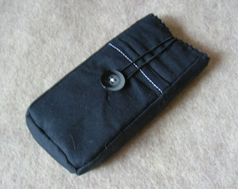 iPhone 5 Case, iPhone 4 Case, iPod Classic Case, Credit Card Holder, Clutch, Purse, Flat Black