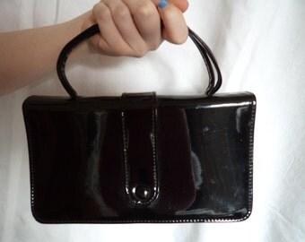 1960s Black Patent  Purse/Handbag by Essell