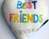 Fernellas Jools Autograph Pillow-Best Friends with rhinestone heat transfer