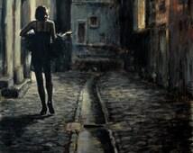 "Fabian Perez ""El Paseo"" - Signed Enhanced Giclee/Canvas - Large - COA - See Live at GallArt - Buy/Sell/Trade"