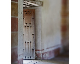 Mission Door, Fine Art Photography,Western Style,Rustic Decor,Spanish Colonial,San Antonio Texas,Neutral Tones Decor,Southwest Flair,Ranch