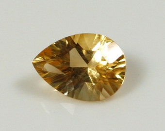 Pear Concave Cut Citrine - 5mm x 7mm