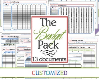 The Budget Pack EXPANDED (13 documents) CUSTOMIZED