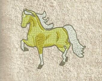 Horse Hand Towel, hand towels, decorative towels, embroidered towels, bath towel, embroidered towel, personalized towel, kitchen towels,