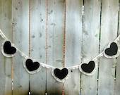 Wedding Card Banner / Wedding Gift Banner / Personalized Banner / Chalkboard Heart Banner / Bridal Shower Banner / Birthday Banner / Lace