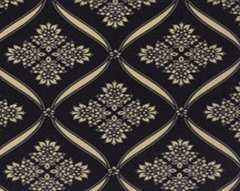 Wintergreen Ribbon Damask - Black