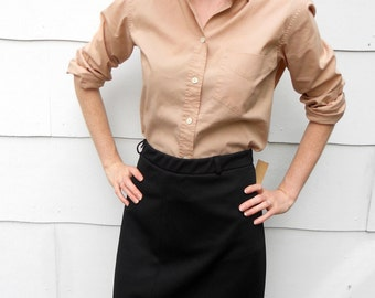 Vintage 1960's Black Skirt (#16-1)