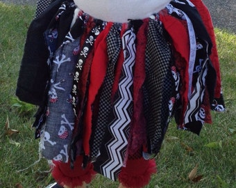 Fabric Birthday/Holiday/Thanksgiving/Fall Pirate Skirt made to match your theme or color scheme