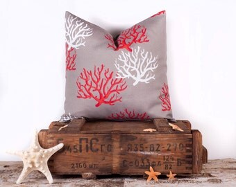 High Quality Taupe Coral Throw Pillow Case, Designer Throw Pillows, Bedroom Accessories,  16 X 16