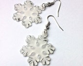 SNOWFLAKES Earrings - Dangle earrings with snowflakes - Christmas jewelry gift idea - AChicFairytale