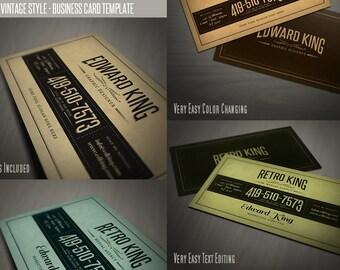 Retro Business Card Template 06