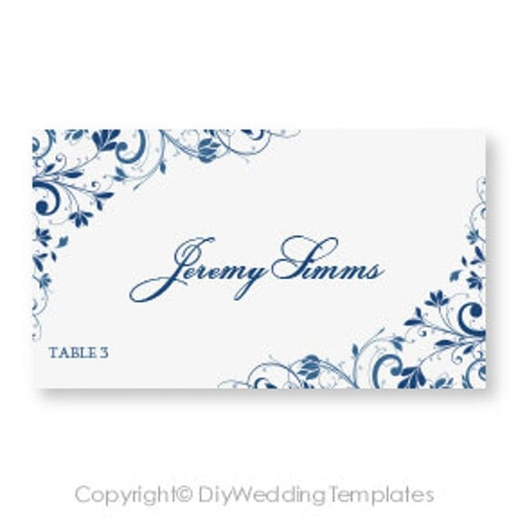 templates for place cards for weddings - wedding place card template download instantly by