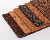 Shades ofBrown Fat Quarter Bundle by Fabri-quilt