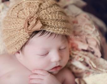 Newborn Baby Girl Elizabeth Hat Crochet Photo Prop