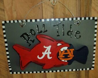 Alabama and Auburn fish