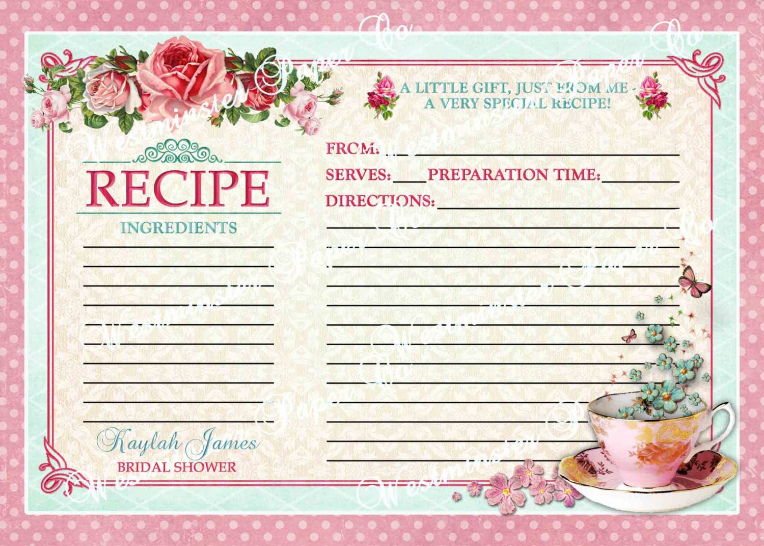 Unavailable listing on etsy for Bridal shower kitchen tea ideas