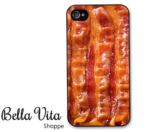 iPhone 4 Case - Bacon iPhone Case, iPhone 4 Protective Case, Cases for iPhone 4, Rubber iPhone Case (4063)