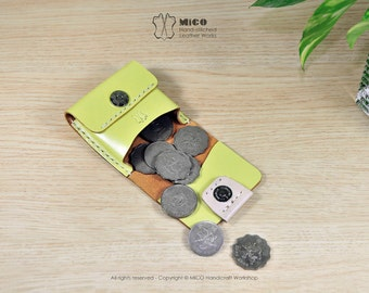 DIY Kit - MICO leather Coin purse / Coin case / Coin pouch