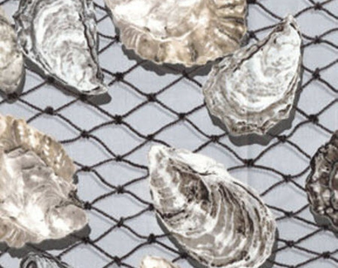 """28"""" REMNANT Oyster Bay in Pearl Gray - Maine Attraction Cotton Quilt Fabric - by Kanvas - Benartex Fabrics (W820)"""