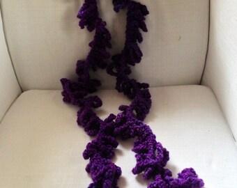 Purple Crochet Scarf
