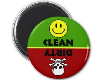 Skull Stoplight Clean Dirty Dishwasher Magnet