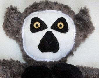 Hand-crafted Lemur Woobie - Minky Security Blanket