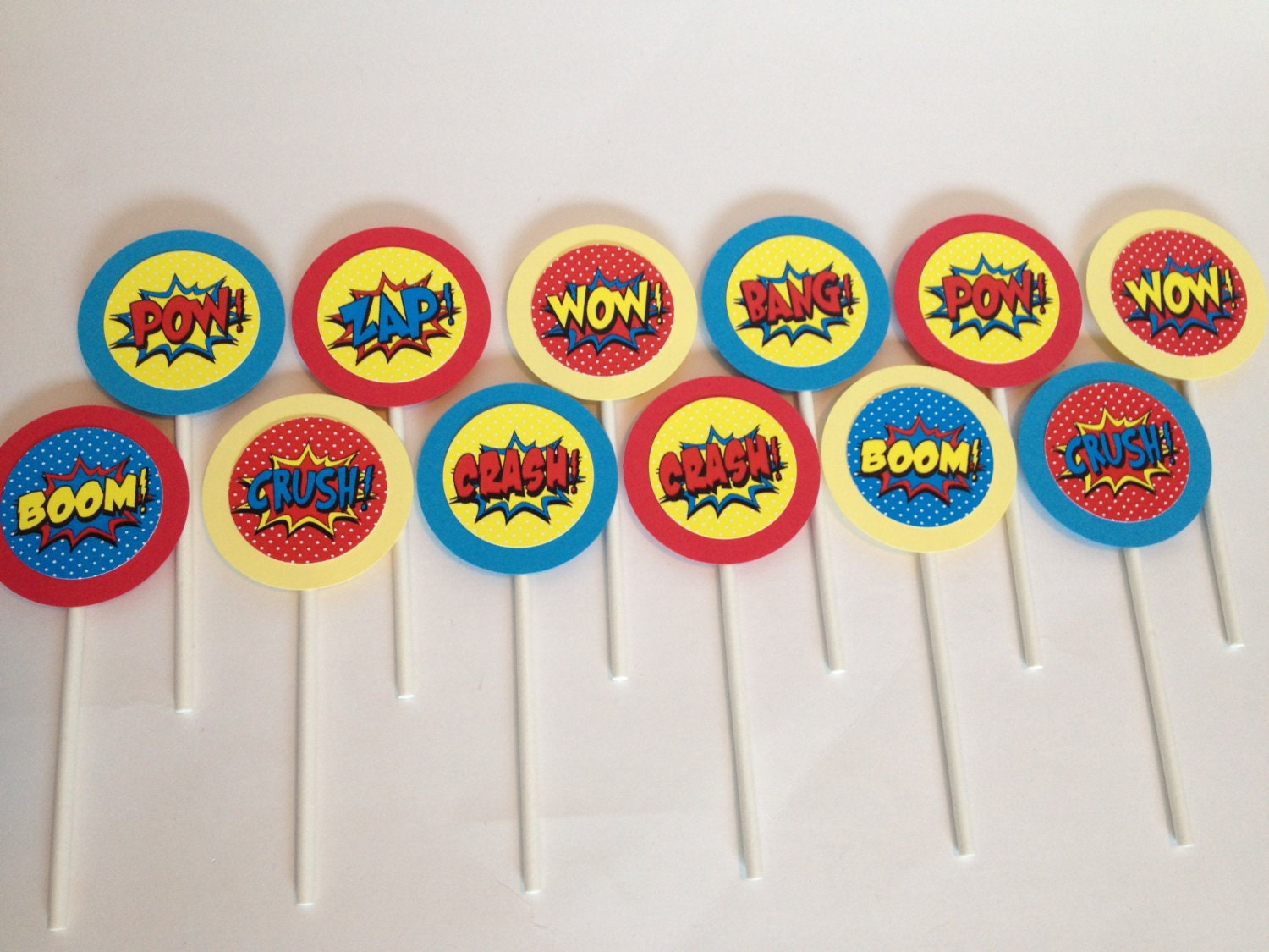 Art Party Cupcake Toppers Pop Art Cupcake Toppers