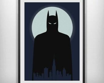 Batman minimal minimalist movie film print poster