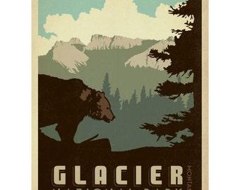 Glacier National Park Montana Wall Decal #42267