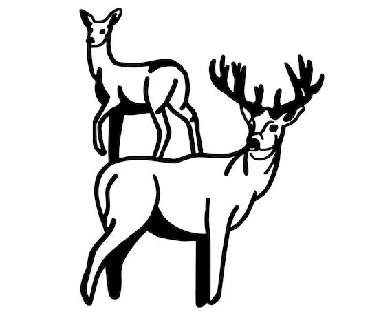 Hunting and fishing vinyl decal deer hunter deer and buck for Hunting and fishing decals