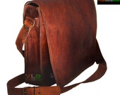 dark brown leather messenger bag for men 13 inches 15 inches