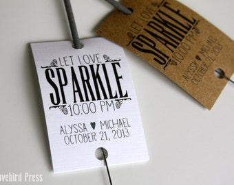 Wedding Sparkler Tags Personalized Printable Favor