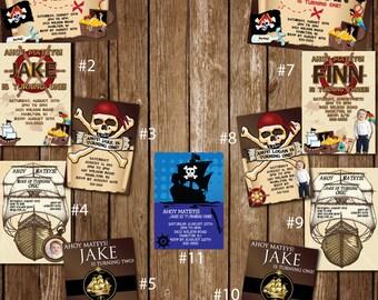 Custom Pirate Party Invitations