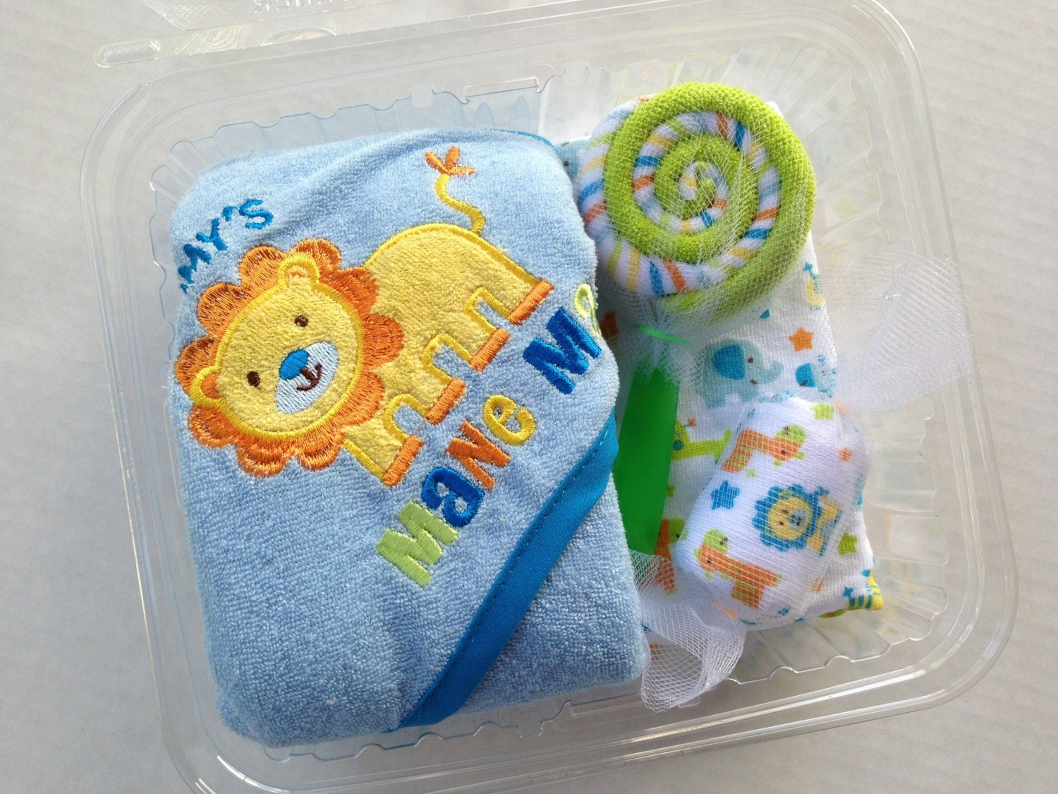 Baby Gift Bath Sets : Safari baby bath set gift boy by littletsweetreats