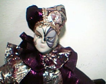 Beautiful Clown Doll in Purple