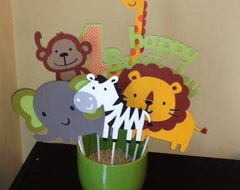 7 Piece Zoo or Jungle Themed Centerpiece