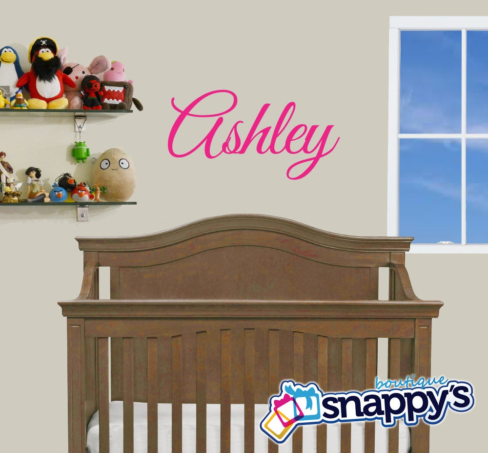 nursery wall decal custom monogrammed wall decal for boy or