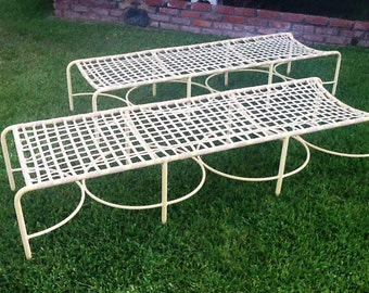 Pair of Mid-Century Brown Jordan Kan Tan Sun Benches