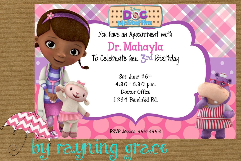 Doc Mcstuffin Invitation as amazing invitation template