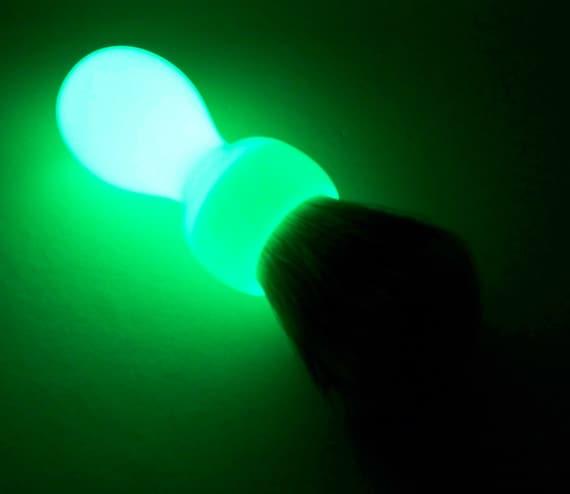 Glow in the dark silvertip handturned resin shaving brush for Glow in the dark resin