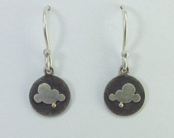 30% OFF Handmade Oxidised Silver Cloud Drop Earrings
