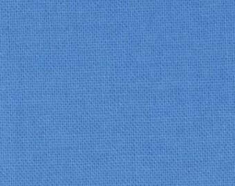 Blue Fabric - Bella Solid Bright Sky by Moda Basics  9900 115 - 1/2 yard