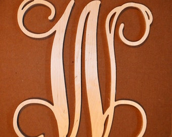 8 inch Wooden Initial, Wooden Vine Letters, Door Wreath Letters, Wood Letters, Wall Decor