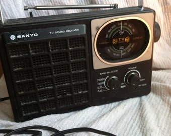 Vintage Sanyo tv sound receiver FM/AM radio