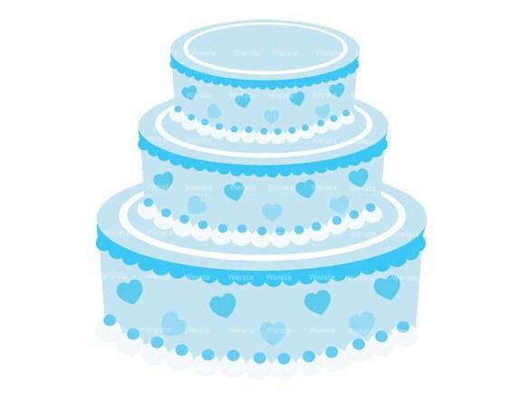 Items similar to Wedding cake clipart digital clip art ...