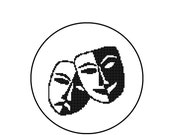 Counted Cross Stitch Pattern - Tragedy & Comedy Masks - CrossStitch Instant Download