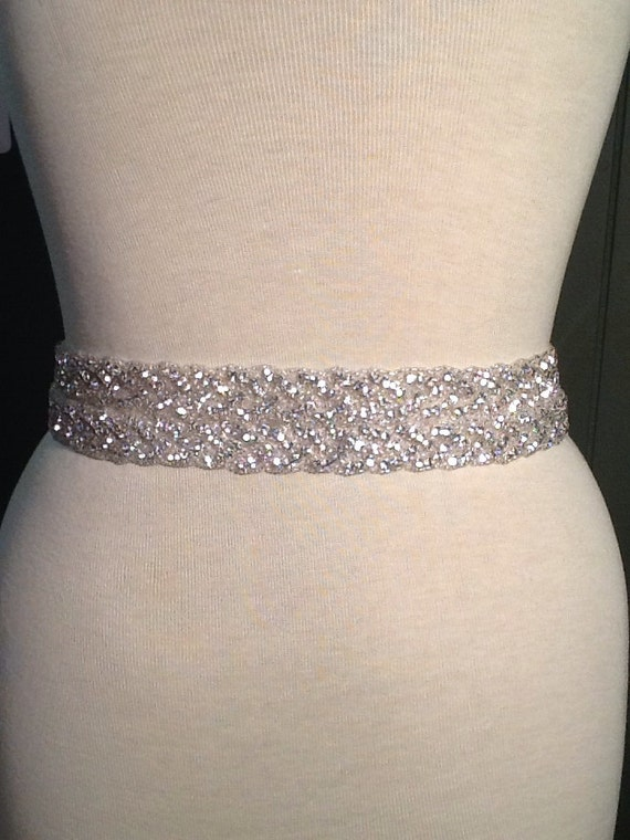 All around beading Bridal belt wedding belt bridal sash | Etsy
