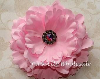 "5"" Ruffled Peony Flower - LIGHT PINK - Center Stone Sold SEPARATELY - Large Flower - Wholesale - Peony - Beautiful Flower - Craft Flower"