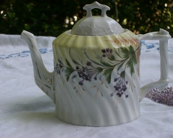 Teapot - Hand Painted China - Vintage