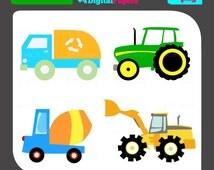 Trucks Clip Art/Digital Clipart/Trucks Clipart/Trucks Clip Art/Truck Clipart/scrapbooking clipart/vector graphics/images/image/truck/tracto